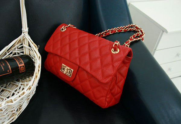 Red Leather Quilted Purse | High On Leather