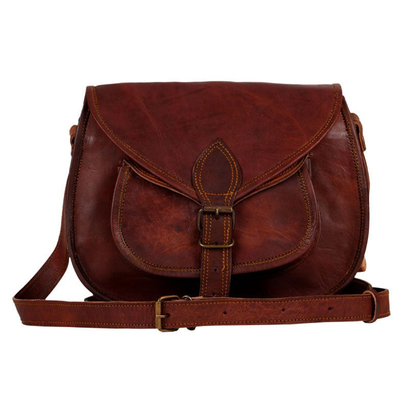 Handmade Leather Crossbody Handbag 11