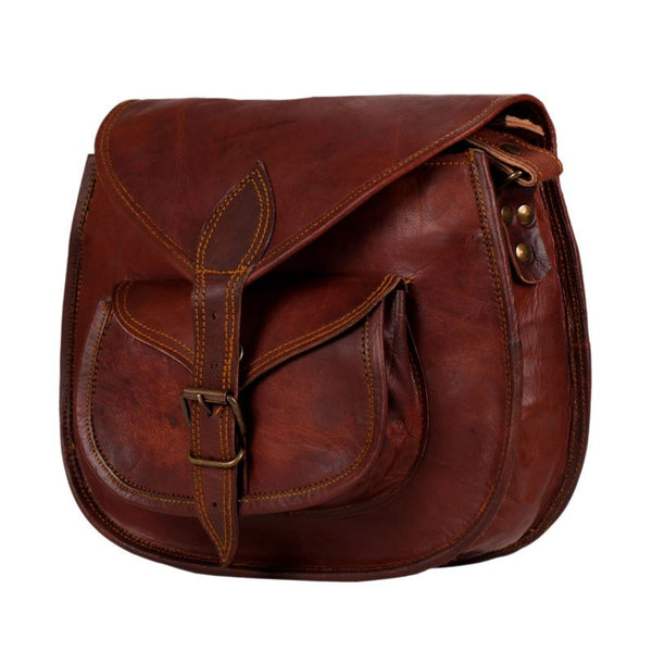 Pure Leather Cross Body Purse 13 Quot High On Leather