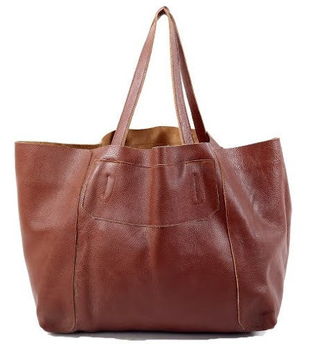 Brown leather tote bag online india