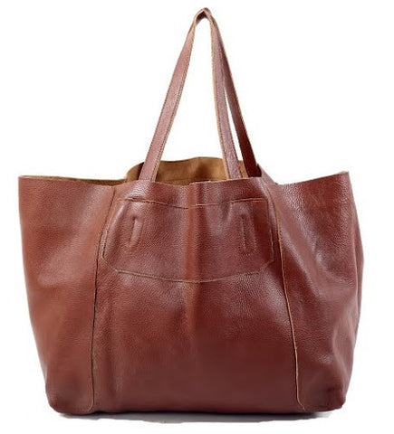 Leather tote christmas cadeaux