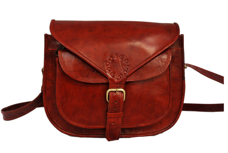 Red Leather Sling Purse