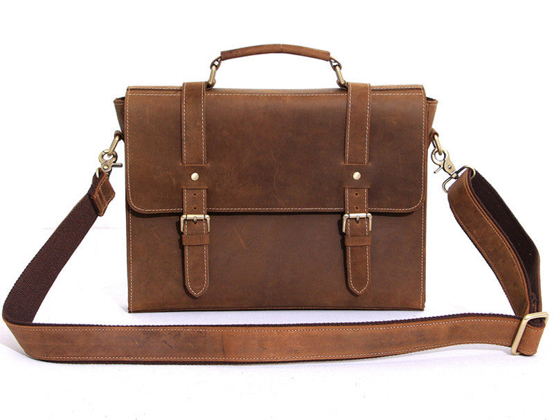 Full Grain Leather Messenger