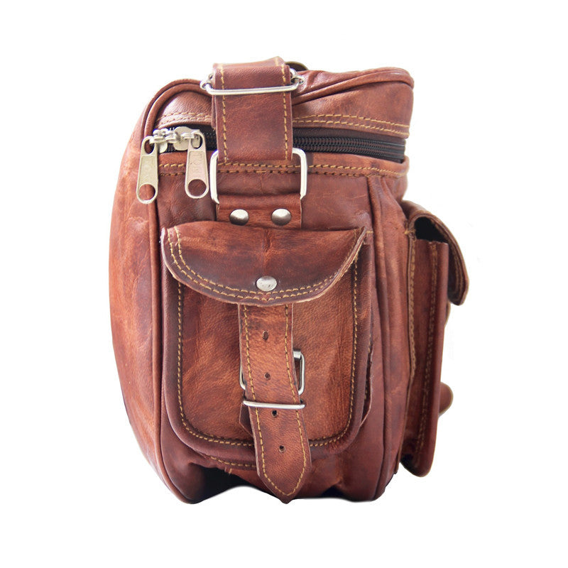 Retro Leather Camera Bag | High On Leather