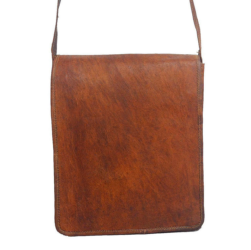 Vertical Leather Messenger Bags