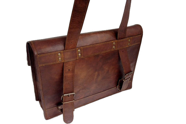 Leather Satchel Backpack 15