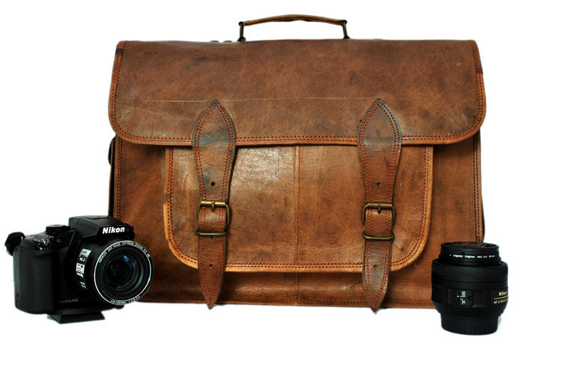 Leather DSLR Camera Bag | High On Leather