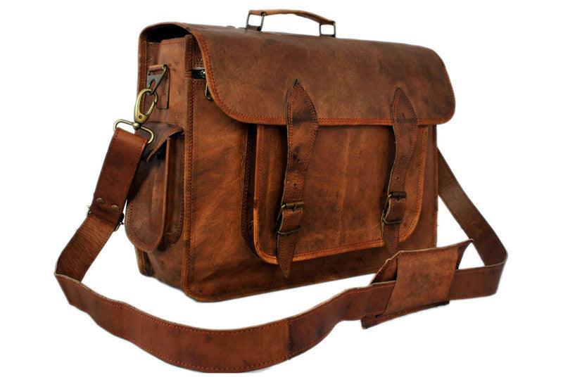 Leather Satchel Backpack 15\' | High On Leather