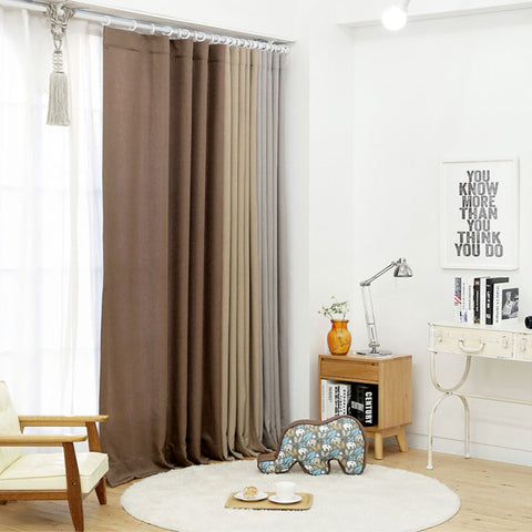 winus korean curtains coffee brown cappuccino colour