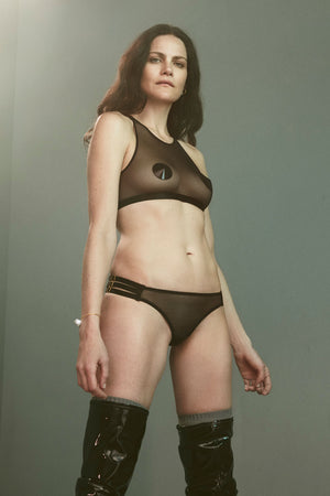 Bordelle 10 Year ouvert peep brief and 10 year crop top