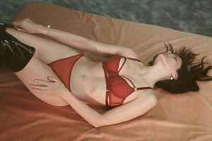 Bordelle 10 Year balconette bra and 10 year thong in burnt red
