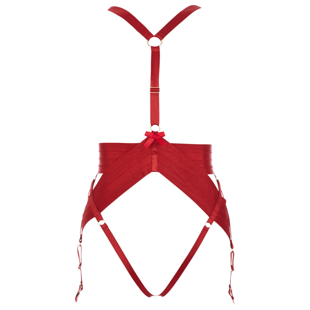 Bordelle Asobi full body harness in burnt red