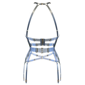 Botanica ouvert basque by Bordelle - dusty blue back