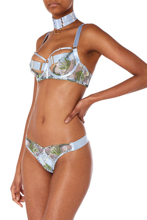 Botanica thong by Bordelle - dusty blue