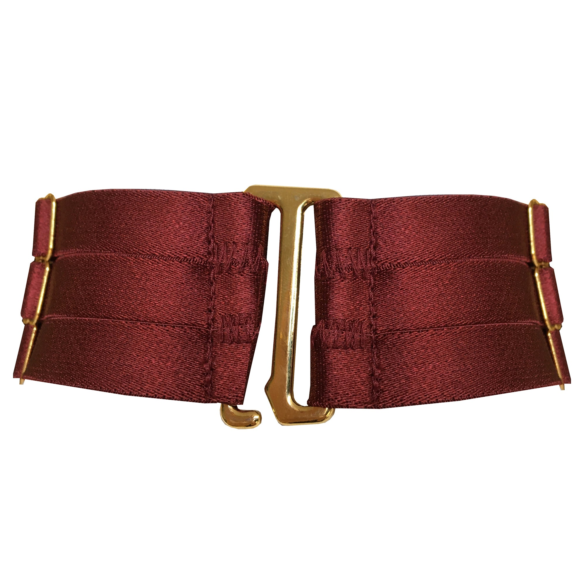 Bordelle Merida O ring Bondage Collar burgundy