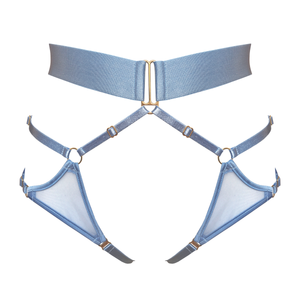 Bordelle Merida Harness brief ouvert - dusty blue