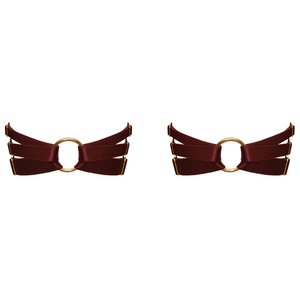 Bordelle Merida Multi Strap Garters - burgundy