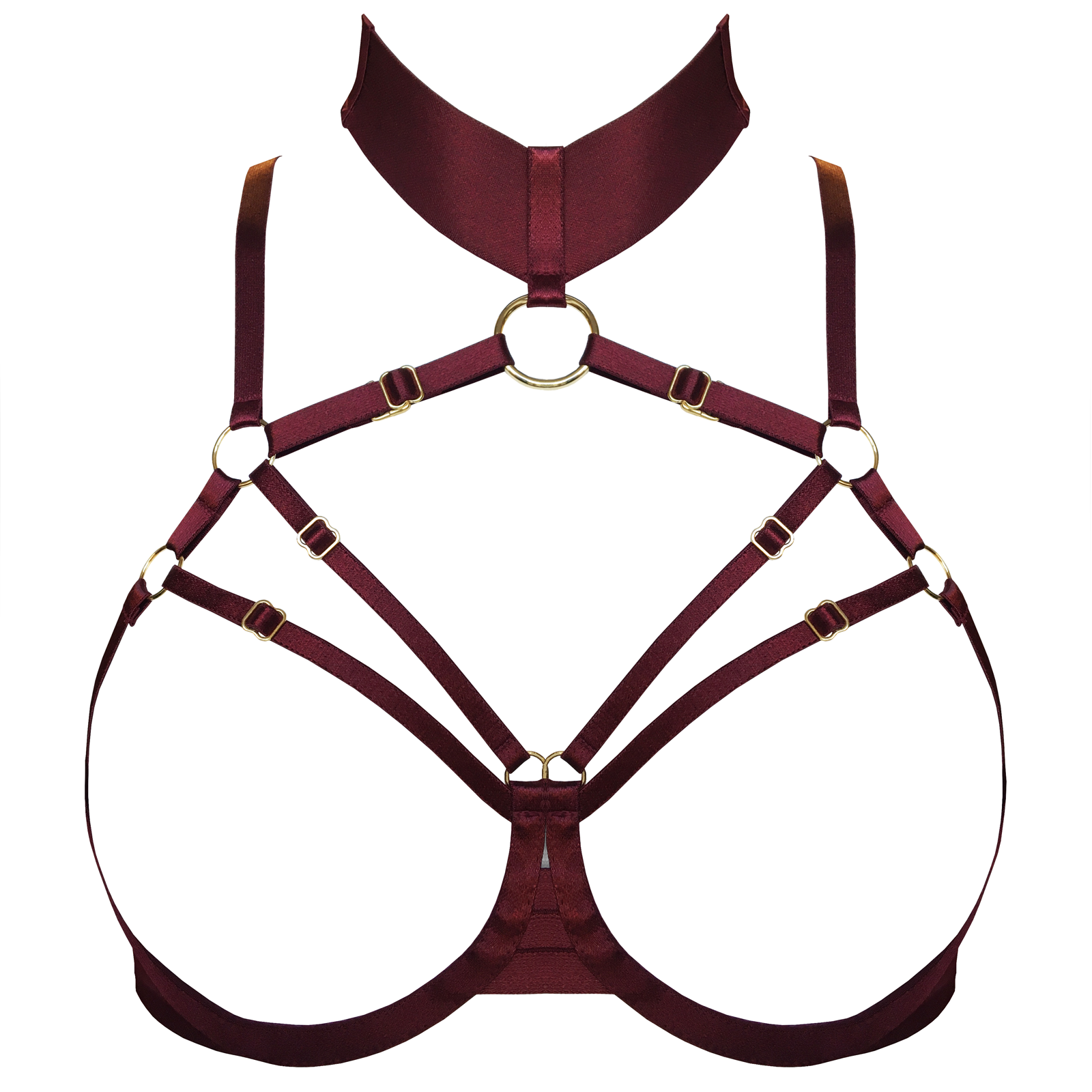 Merida ouvert wire bra by Bordelle - burgundy