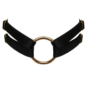 Bordelle Merida strap collar choker o ring - black