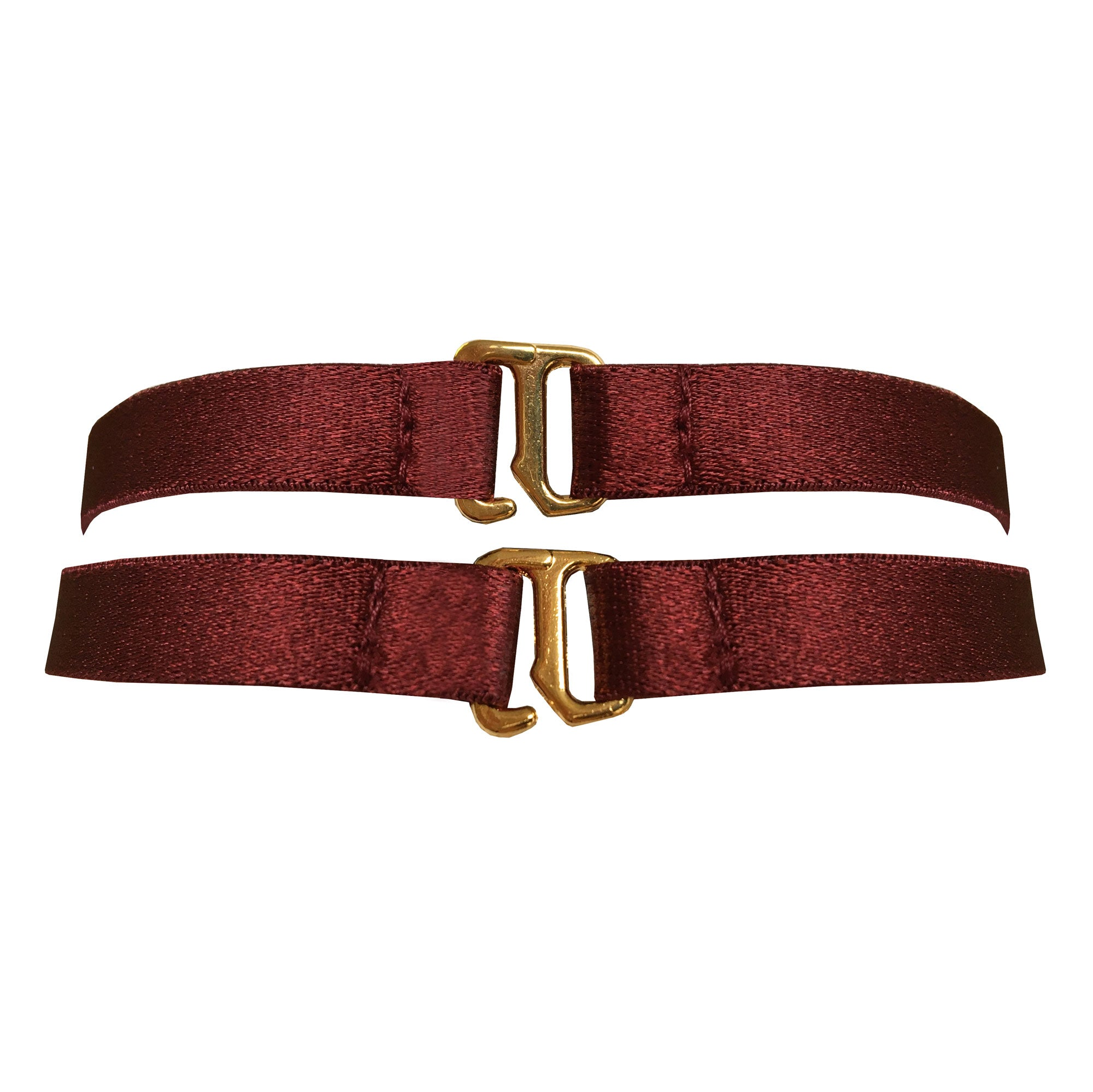 Bordelle Merida strap collar choker - morello burgundy