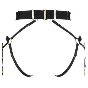 Rey convertible bondage harness by Bordelle - black