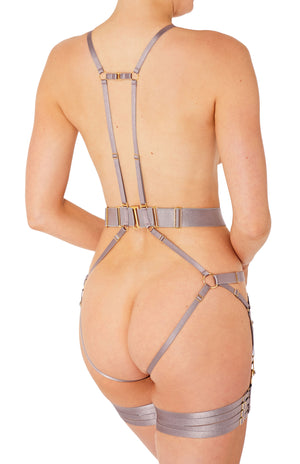 Rey convertible bondage harness by Bordelle - tundra