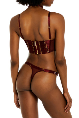 Exclusive strap thong by Bordelle - morello