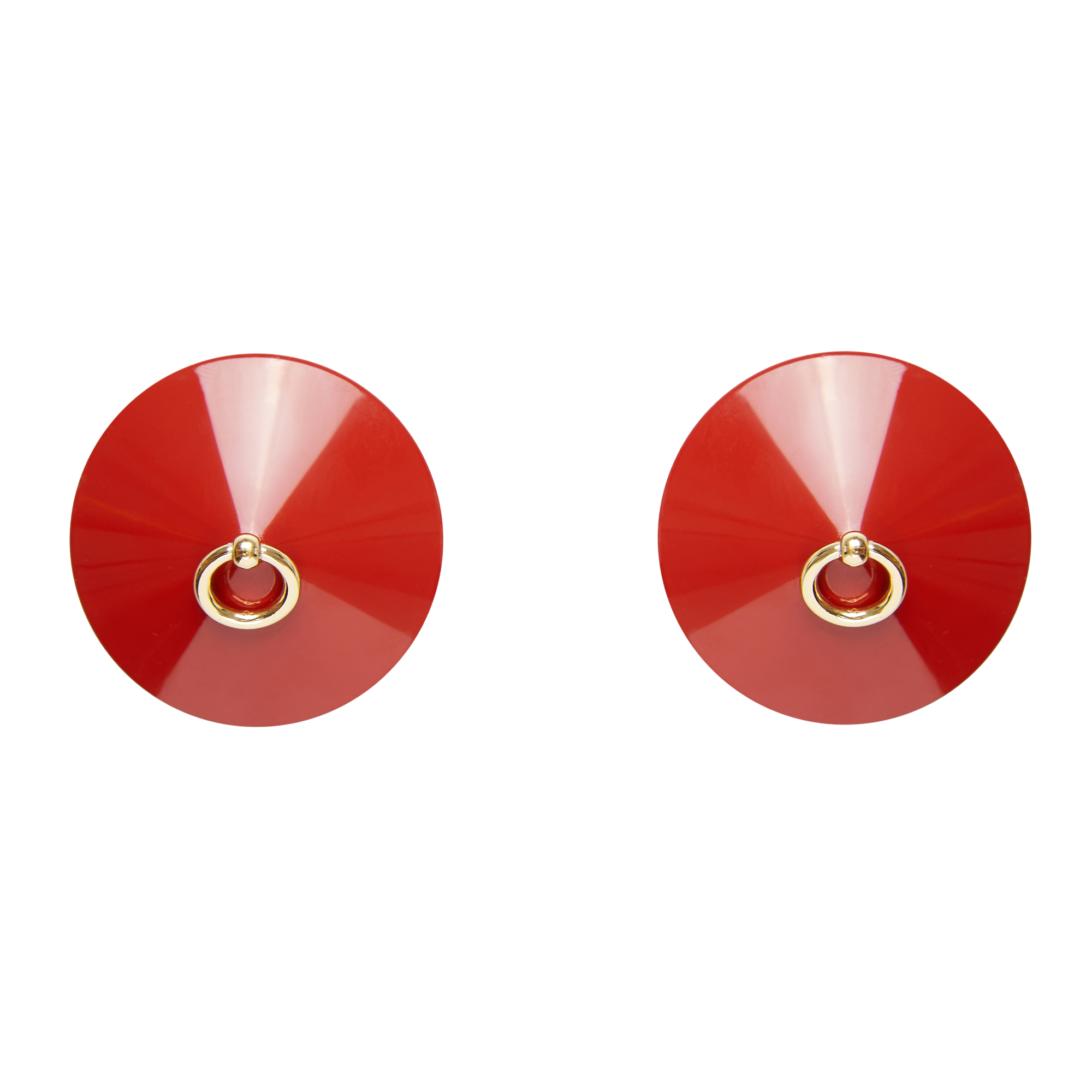 Bordelle O enamel nipplet red