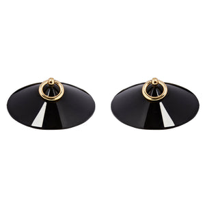 Bordelle O enamel nipplets black