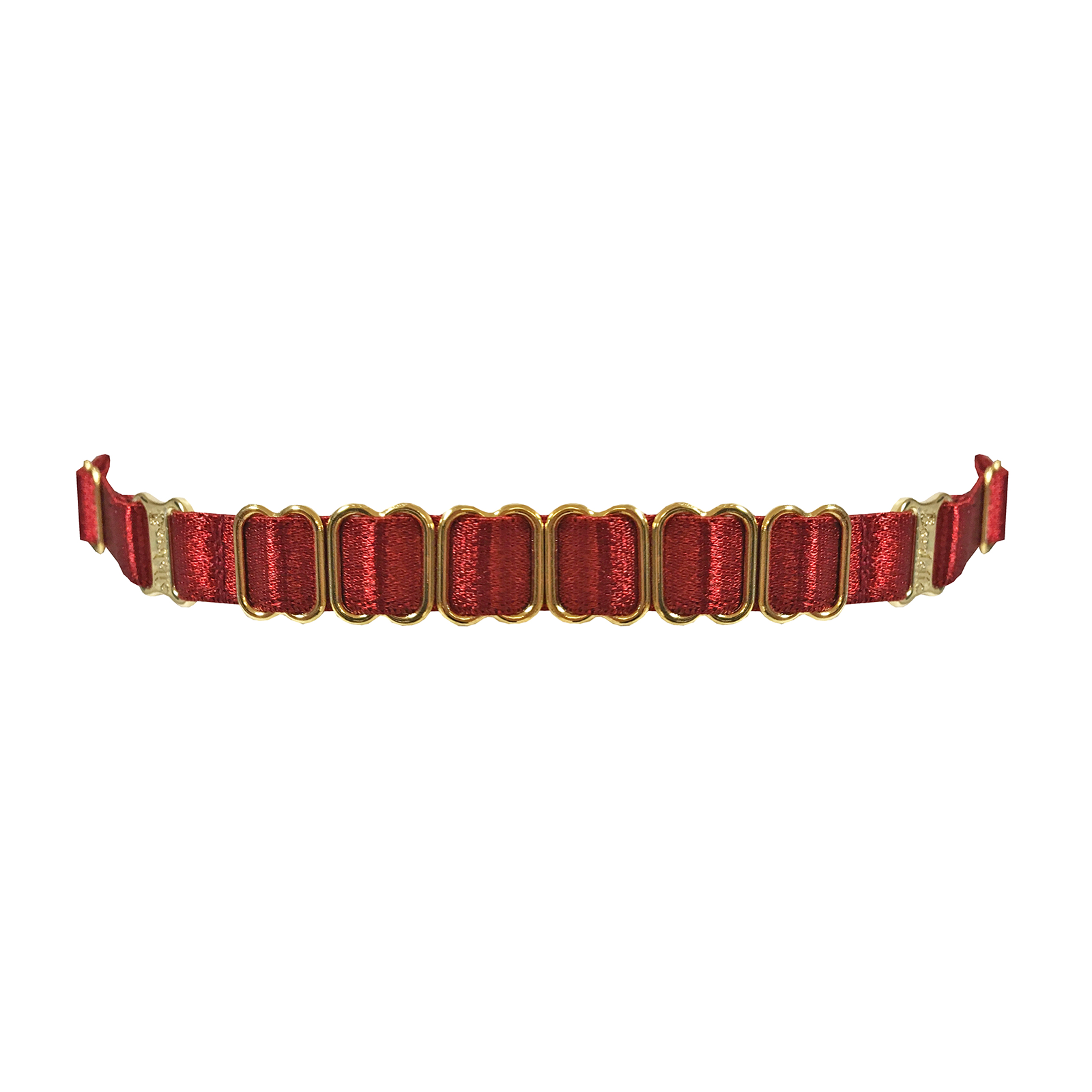 Bordelle strap collar - burnt red