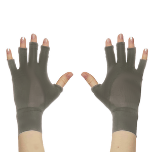 DSTM Sever finger-less gloves - silver