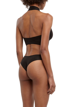 DSTM Brazilian thong and Axon halter top - side back