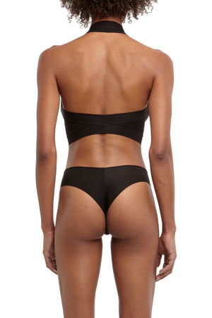 DSTM Brazilian thong and Axon halter top - back