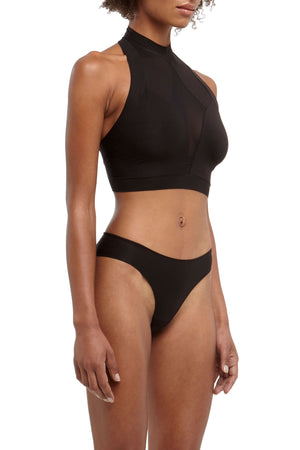 DSTM Brazilian thong and Axon halter top - side
