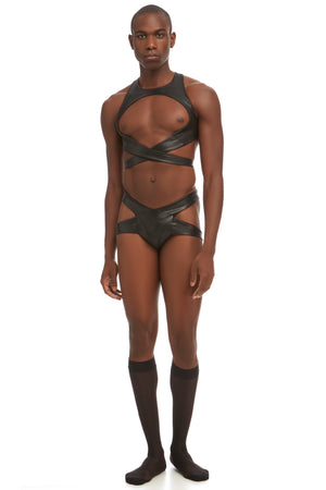 Maya mens' thong by DSTM - vegan leather
