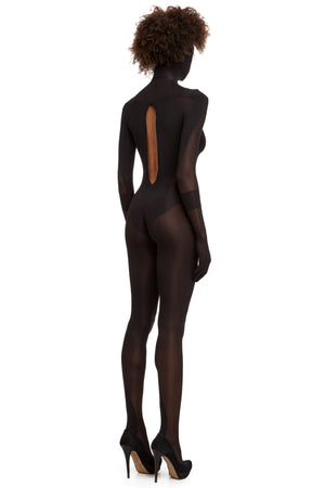 DSTM full body catsuit with hood - side back