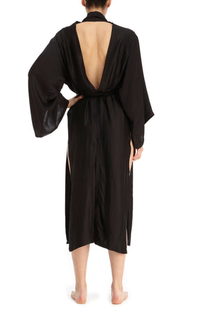 DSTM Hishi satin robe - back