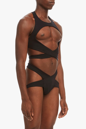 DSTM Maya mens harness and Maya brief - side