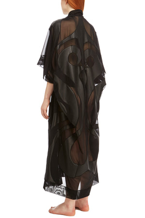 DSTM Phoenix vegan leather robe - side back