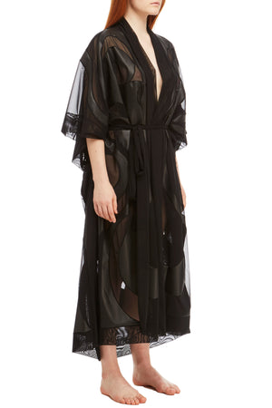 DSTM Phoenix vegan leather robe - side