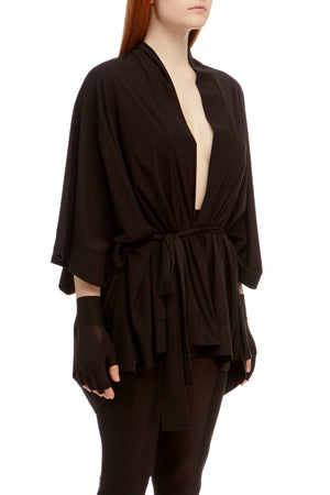 DSTM Sever kimono robe and Sever leggings in black - side