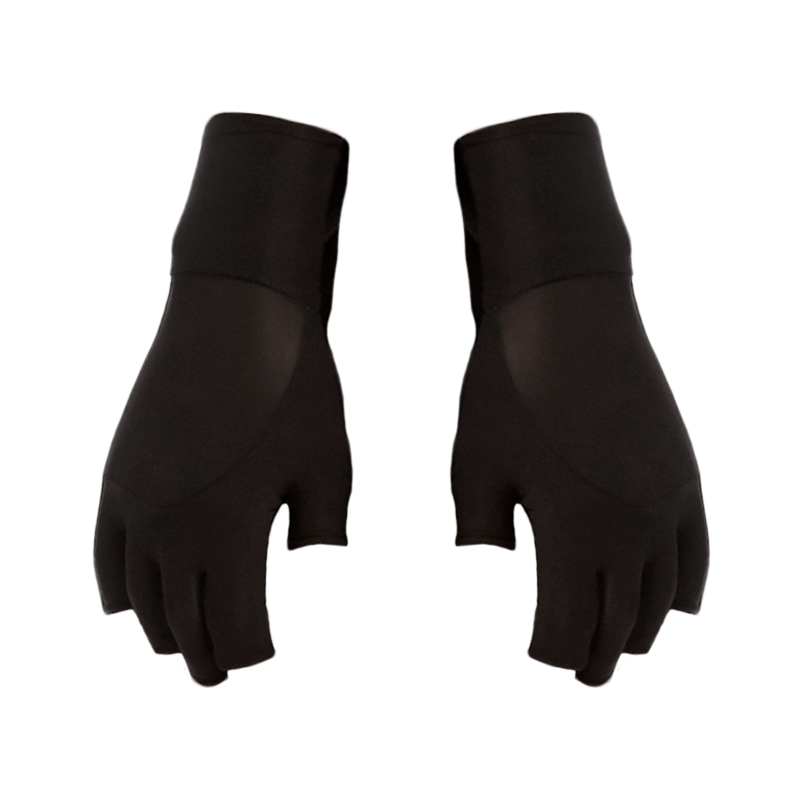 Sever non-gendered finger-less gloves by DSTM