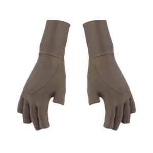 Sever non-gendered finger-less gloves by DSTM - silver