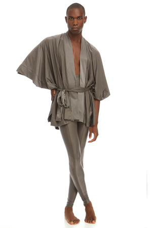 Sever non-gendered robe by DSTM - silver