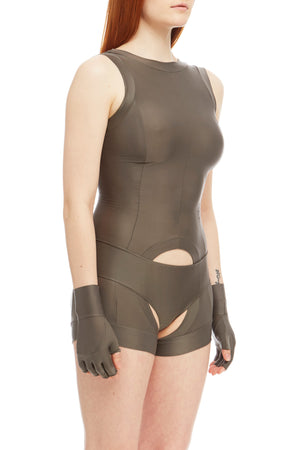 DSTM Sever reversible suspender tank in silver high front - side
