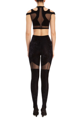 DSTM Solta tights and Solta crop top - back