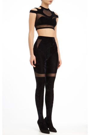 DSTM Solta tights and Solta crop top - side