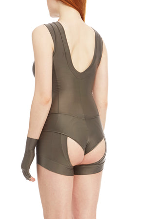 DSTM Sever reversible suspender tank in silver high front - side back