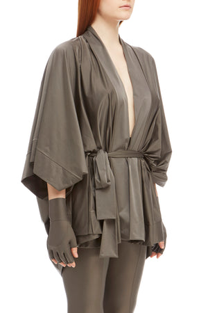 DSTM Sever kimono robe and Sever leggings in silver - side
