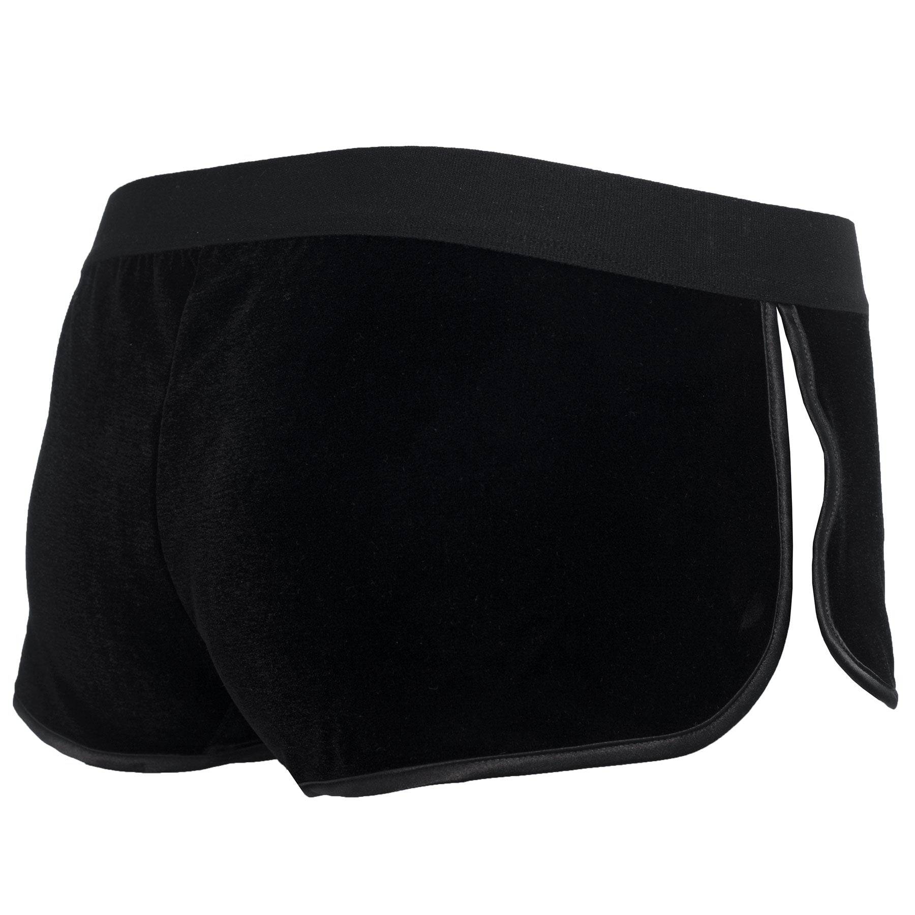 Kriss Soonik x bltp Velvet mini shorts